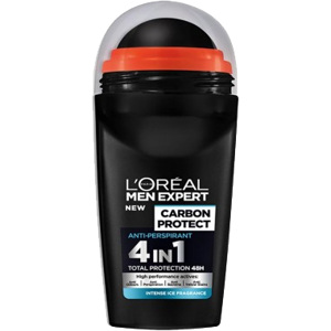 Men Expert Carbon Protect 4 in 1 Ice, Deo Roll-On 50